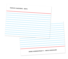 correspondence card filecard