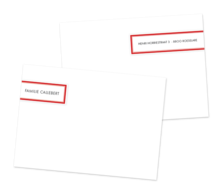correspondence card label